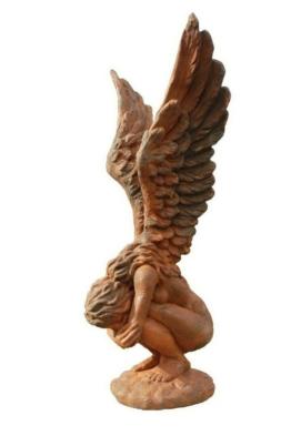 """Gartenfigur Engel Skulptur Steinfigur Statue Grabstein Steinguss """"Rachel"""" klein"""