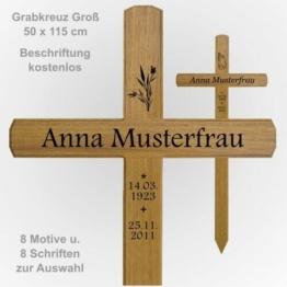 Grabkreuz Holzkreuz Groß 50 x 115 cm  Grabkreuze / Holzkreuze aus Eichenholz