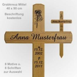 Grabkreuz Holzkreuz Mittel 40 x 90 cm  Grabkreuze / Holzkreuze aus Eichenholz
