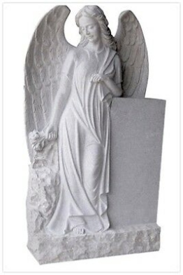 Grabstein,Granit Grabstein mit stehendem Engel D, 90x55x20cm,China Grau, NEU!!