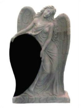 Grabstein,Granit Grabstein mit stehendem Engel E, 60x18x90cm,China Black, NEU!!