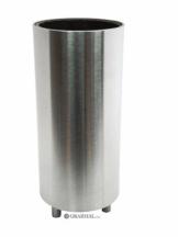 """Grabvase """"Copa"""" (rund) aus massivem Edelstahl mit Kunststoffvase"""