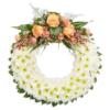 Aufwendiger Trauerkranz (mit Chrysantheme, Rosen)