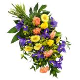 Bunter Trauerstrauß (mit Rosen)