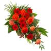 Oranger Trauerstrauß (mit Rosen)