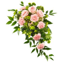Rosa Trauergesteck (mit Rosen)