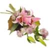Rosa Trauerstrauß (mit Lilien)