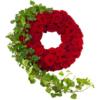 Rote Rosen Trauerkranz (mit Rosen)