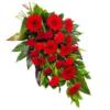 Roter Trauerstrauß (mit Gerbera, Rosen)