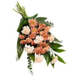 Sanfter Trauerstrauß (mit Chrysanthemen)