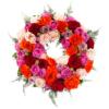 Trauerkranz aus Rosen (mit Rosen)