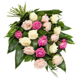 Trauerstrauß mit Rosen (mit Rosen)
