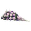 Violettes Trauergesteck