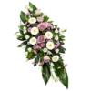 Violettes Trauergesteck (mit Rosen)
