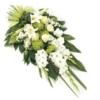 Weißer Trauerstrauß (mit Lilie, Rose, Gladiolen )