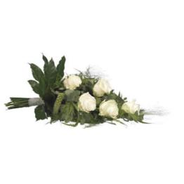 Weißer Trauerstrauß (mit Rosen)