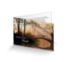 Trauer Dankkarte  Brücke im Morgenlicht