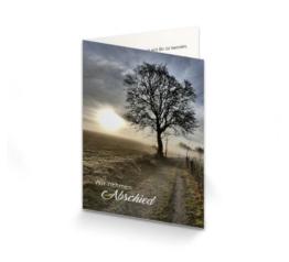 Trauerkarte Baum am Wegesrand