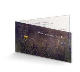 Trauerkarte Gelbe Blume