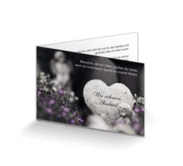 Trauerkarte Herz und Engel