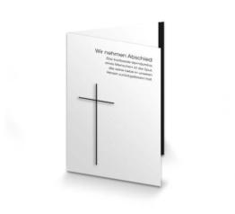 Trauerkarte Kreuz mit Trauerrand