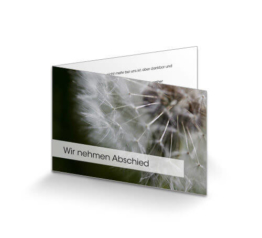 Trauerkarte Löwenzahn