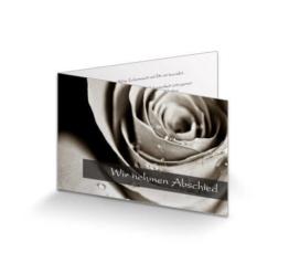 Trauerkarte Rosenblüte