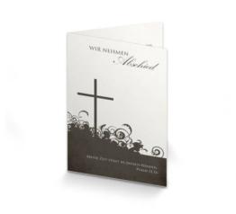 Trauerkarte Vintage Kreuz