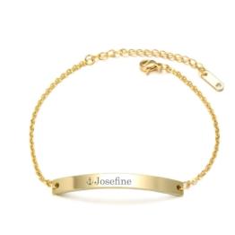 Armband Bridge mit WUNSCHTEXT - gold