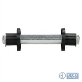 Achse für Schubkarrenrad Sackkarrenrad Räder Bollerwagen 19,7 x 128 mm Stahl