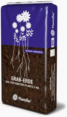BSL Plantaflor Graberde 20 Liter Sack Grabbepflanzung Grababdeckung Schwarztorf