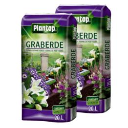Graberde PLANTOP 2 Säcke á 20L = 40 Liter Blumenerde Spezialerde OHNE Rußzusatz